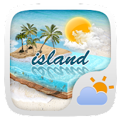 Island GO Weather Widget Theme