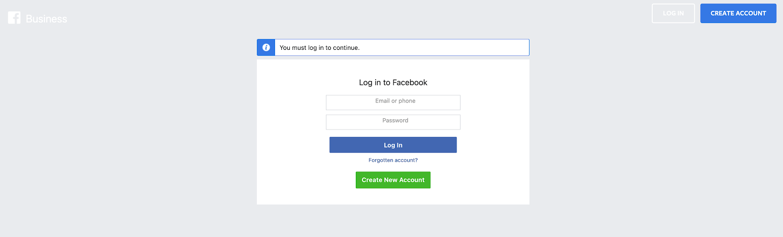 Login to your Facebook Business Suite
