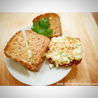Egg Salad Sandwich Redux with Greek Yogurt