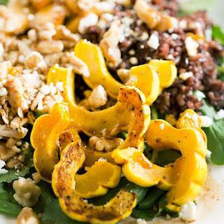 Creamy Delicata Squash and Wild Rice Salad