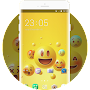 Happy Smile Free Theme design for Emoji Wallpaper APK icon