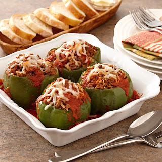 Green Peppers Stuffed With Rice And Ground Beef Recipes.