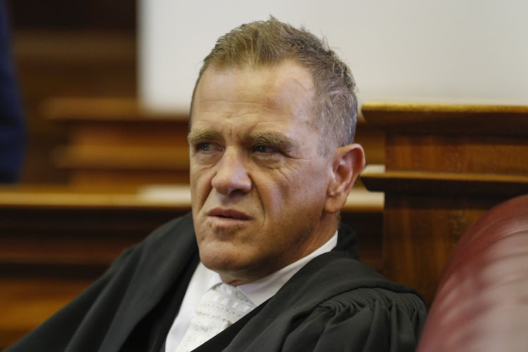 Advocate Pete Mihalik during the Susan Rohde trial in the Western Cape High Court on December 04, 2017 in Cape Town. File photo.