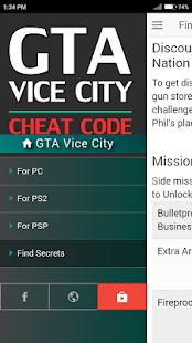 Cheat Code for GRAND THEFT AUTO VICE CITY GTA Game - náhled