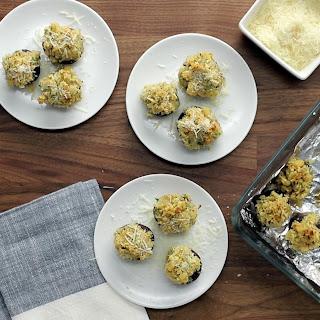 Ritz Cracker Stuffed Mushrooms.