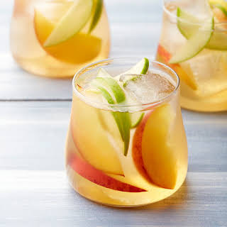 White Wine and Peach Sangria.