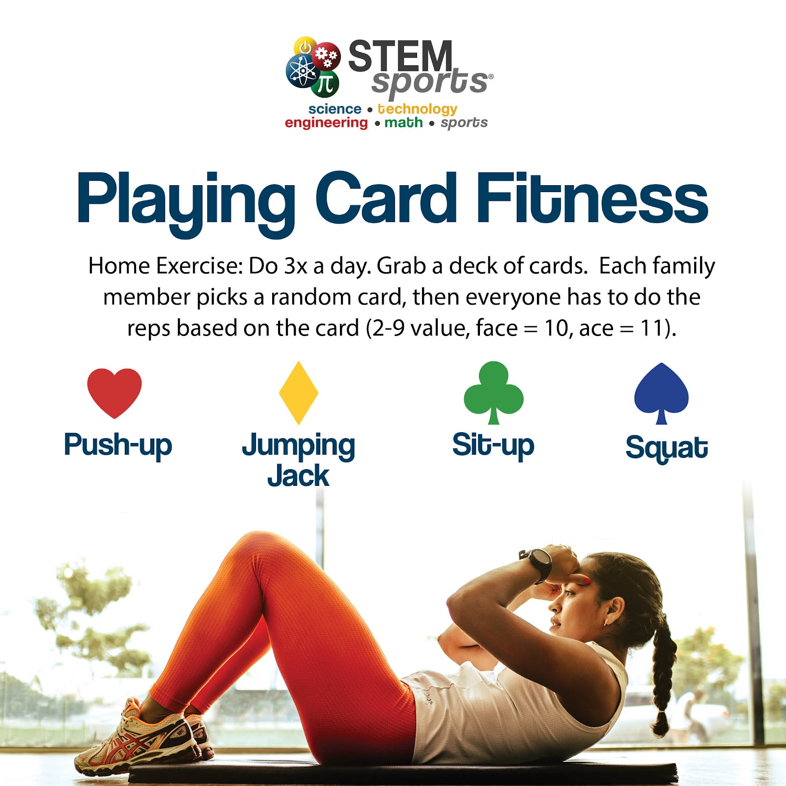 STEM Sports Playing Card Fitness.
