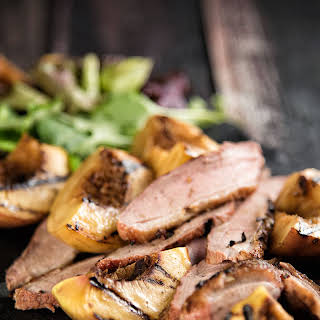 Duck Breast With Peaches.