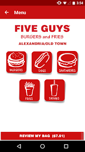 Five Guys Burgers & Fries- screenshot thumbnail