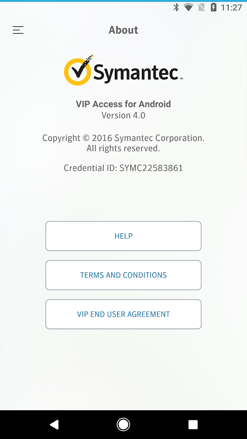 VIP Access- screenshot