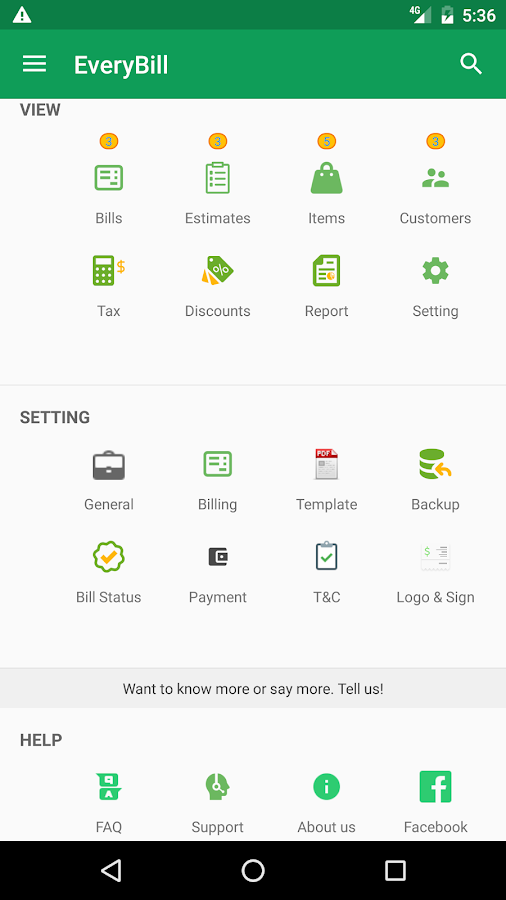 FREE GST Invoice! Estimate, Account, Inventory App- screenshot