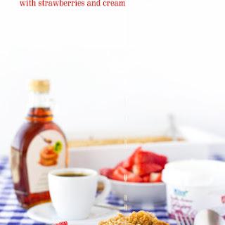 Baked Maple Syrup & Strawberry Jam Oatmeal