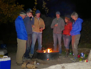 """Photo: Campfire topics included the space station, celebrity sitings, aliens, and the movie """"Deliverance"""""""