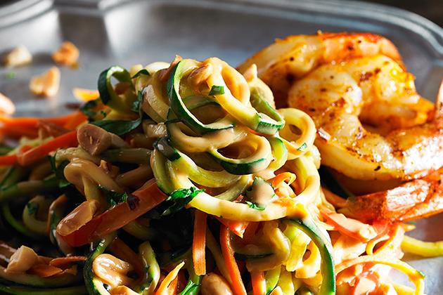 Peanut Zucchini Noodles Recipe