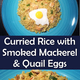 Curried Rice with Smoked Mackerel & Quail Eggs.