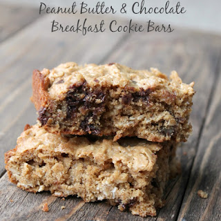 Peanut Butter and Chocolate Breakfast Cookie Bars