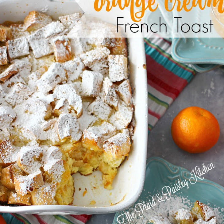 Orange Cream French Toast Overnight Casserole Recipe