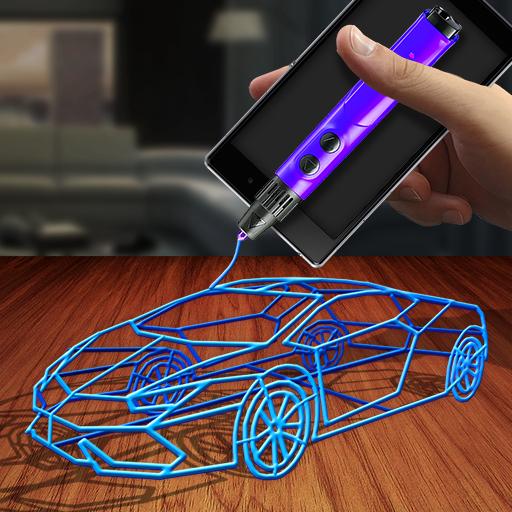 3D Printing Pen Simulator Icon