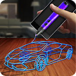 3D Printing Pen Simulator Icon