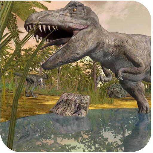 模拟の恐竜は破壊します LOGO-記事Game
