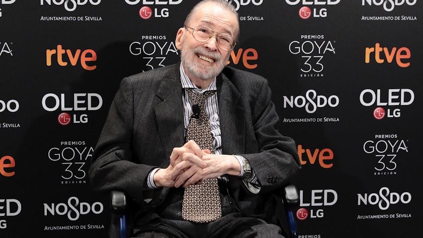 Chicho Ibáñez Serrador, en la fiesta de nominados de los Goya.