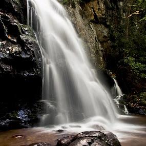Spruce Flat Falls Detail by Ron Plasencia - Nature Up Close Water ( spruce flat falls, waterfall, ron plasencia, gsmnp, smoky mountains )