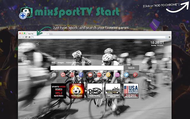 mixSportTV Start chrome extension