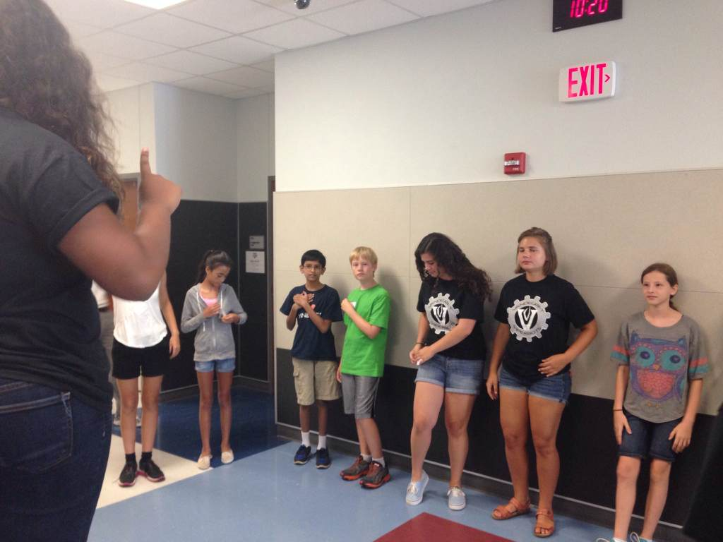 ViperBots lead middle school students in team-building exercises.