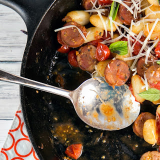 Gnocchi Skillet with Tomatoes and Sausage Recipe