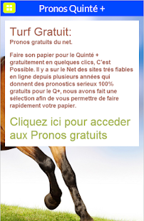 Turf Gratuit, Pronos Quinté +- screenshot thumbnail
