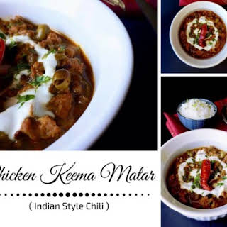 Chicken Keema Matar - Indian Style Chili.