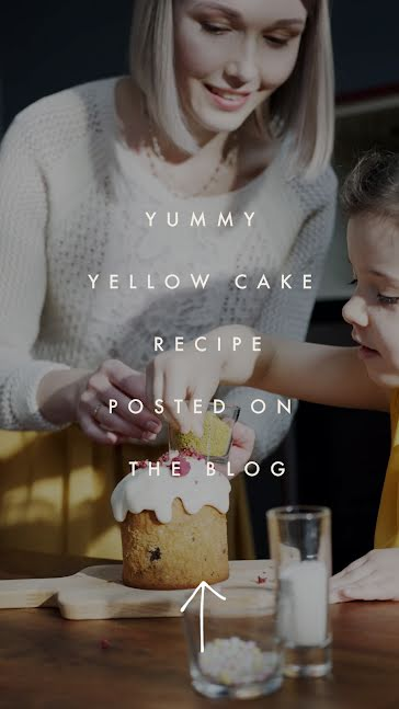 Yummy Yellow Cake - Facebook Story Template
