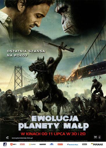 Przód ulotki filmu 'Ewolucja Planety Małp'