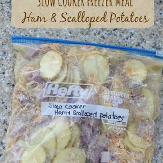Ham & Scalloped Potatoes | Freezer to Slow Cooker Meals