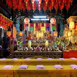 little temple at the Shilin night market in Taipei, T'ai-pei county, Taiwan
