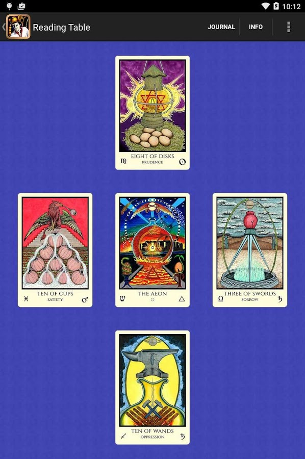 Tabula Mundi Tarot- screenshot