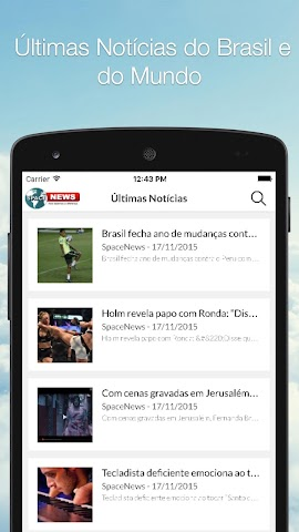 android Spacenews - Notícias Screenshot 0