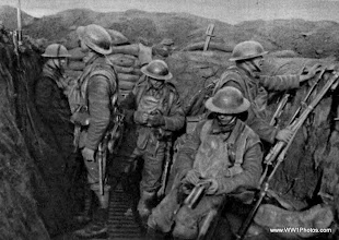 Photo: The York And Lancaster Regiment During A Quiet Interval On The Western Front