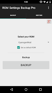 ROM Settings Backup Pro Screenshot