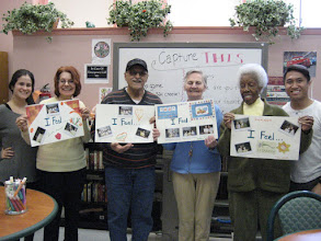 Photo: Members were happy to show off their work.