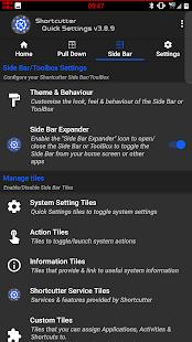 Shortcutter - Quick Settings & Sidebar Screenshot