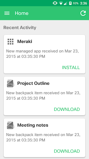 Meraki Systems Manager screenshot
