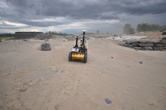Photo: Visual teach and repeat during a major duststorm!  The tracks were covered by new sand but the rover continued to drive the route.