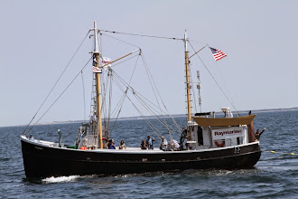 "Photo: Eastern dragger ""Roann"" served as the support vessel for the historic 38th voyage of the Charles W. Morgan (Photo credit: Ivar Babb, NURTEC-UCONN)."