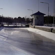 Photo: Frozen lock in Keitele canal CZJ Biometar 80mm