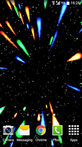 Meteors in Space LiveWallpaper