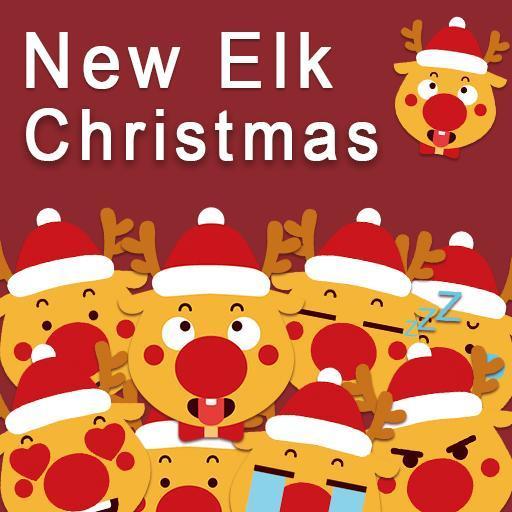 Cute Elk Christmas Keyboard Sticker