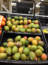 Photo: I also needed mangoes for my fruit cup salsa. They say they are .98 cents each and I bought 2 of them. Later I was pleasantly surprised to find out they were actually .48 cents each....always nice when something rings up less than the posted price.