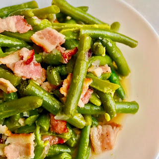 Pressure Cooker Green Beans with Bacon.
