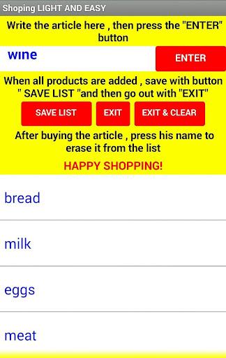 Shoping Clean & Easy 1.1 screenshots 2